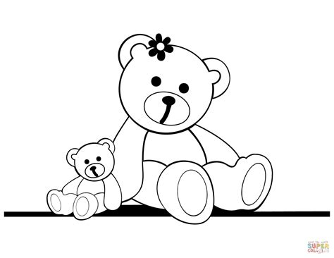 teddy coloring page teddy bears free colouring pages