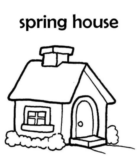 A House Coloring Page by House Coloring Pages Coloringsuite