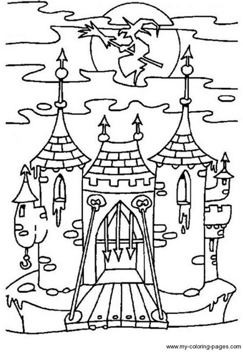 spooky castle coloring page haunted castle coloring pages getcoloringpages com
