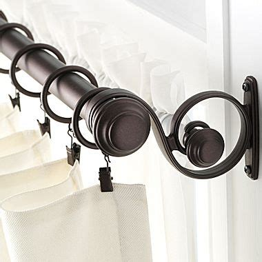 linden street curtain rods linden street double curtain rod jcpenney for the