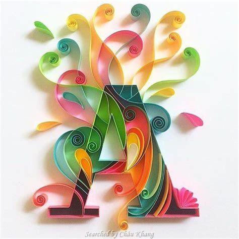 quilling alphabet tutorial 169 sabeena karnik abcs quilling searched by ch 226 u khang