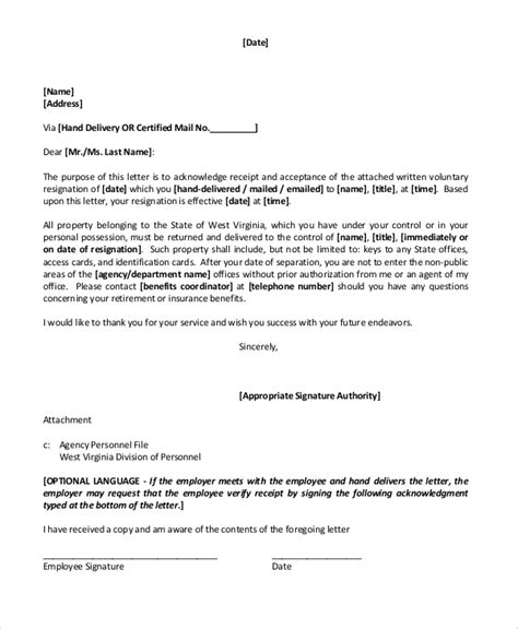 Retirement Resignation Letter To Employer by Sle Retirement Resignation Letter 6 Documents In Pdf Word