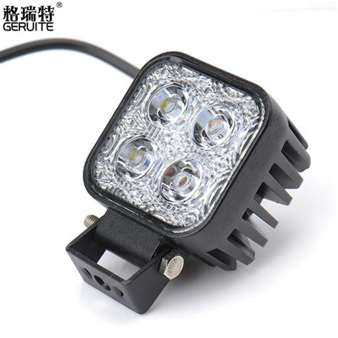 1pc 12w Car Led Light Offroad Work Light Bar For Jeep 4x4 Auto Led Lights 12v