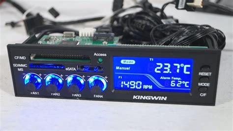 pc fan controller review 1530 kingwin fpx 003 multi function lcd fan controller