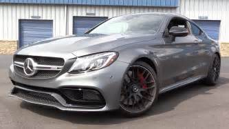 2017 mercedes amg c63 s coupe start up road test in