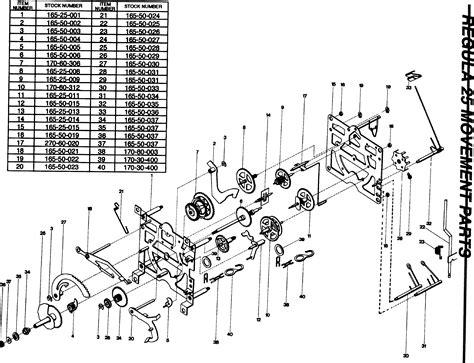 cuckoo clock parts diagram regula movement