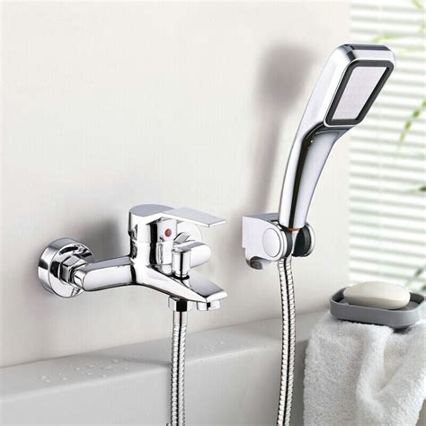 handheld shower head for bathtub faucet wall mounted bathroom faucet bath tub mixer tap with hand