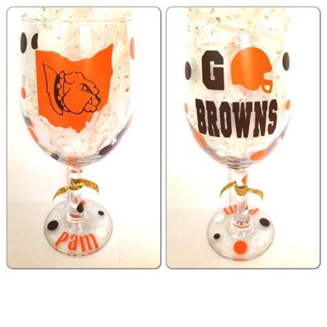 Cleveland Wine Glasses Cleveland Browns Wine Glasses