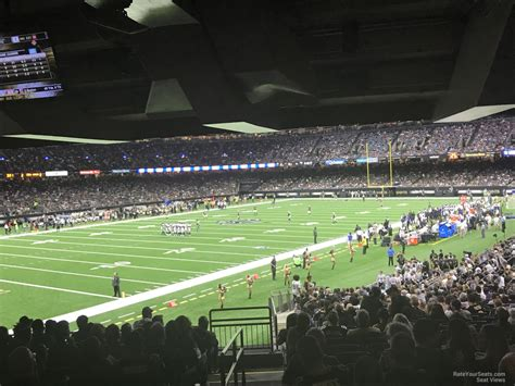 superdome sections superdome section 106 new orleans saints rateyourseats com
