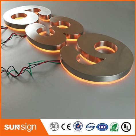 aliexpress sign in hotel use outdoor backlit led house number sign in