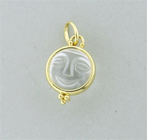 temple st clair carved gold moonface