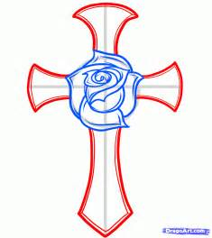 how to draw a rose and cross tattoo step by step tattoos