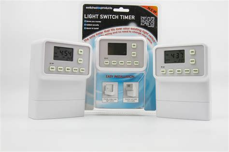 review light switch timer security device