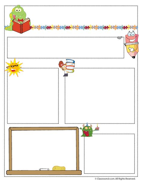 free printable school newsletter templates newsletter templates woo jr activities