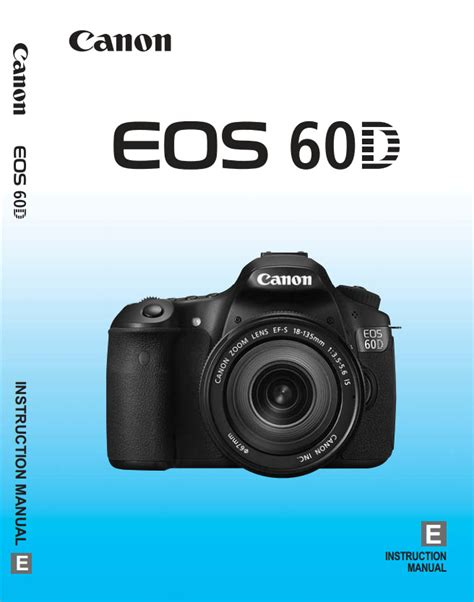 Free Canon 60d Manual Download The User Guide For Free
