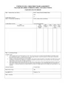 certificate of origin template usa certificate of origin form fill printable