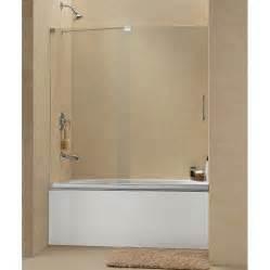 Dreamline mirage to inch frameless sliding tub door