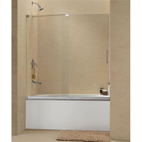 frameless bathtub door dreamline mirage to inch frameless sliding tub door