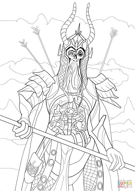Draugr coloring page | Free Printable Coloring Pages