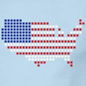 usa map pixel america gifts spreadshirt