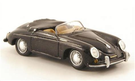 porsche model car porsche 356 speedster black 1958 spark diecast model car 1