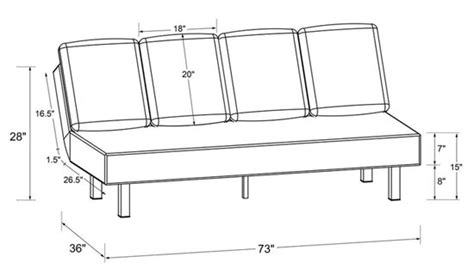 Futon Measurements by Roomy Quot Seat Quot Futon With Cushions