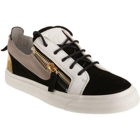 giuseppe shoes giuseppe zanotti combo zip sneaker in black multicolor