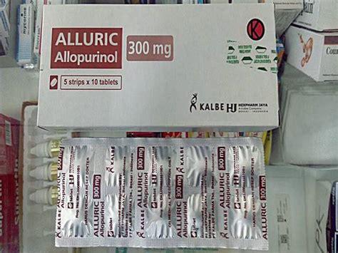 Alluric 300mg Tablet 7 obat asam urat di apotik pantangan tanaman obat herbal