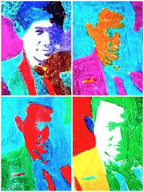 andy warhol style printing in andy warhol style