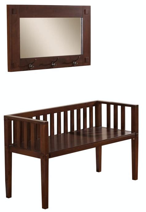 entryway bench and mirror amazon com simpli home greyson entryway bench with mirror