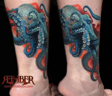 octopus leg tattoo 23 octopus tattoos on calf