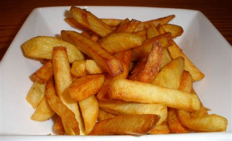 Handmade Chips - cooked chips dinner at home