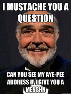 Sean Connery Mustache Meme - sean connery