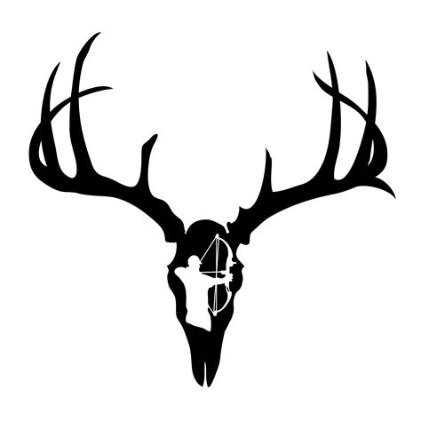 skull bow tattoo designs deer skull decal viewing craft ideas