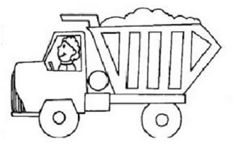 truck coloring page for preschoolers land transportation coloring pages for kids preschool