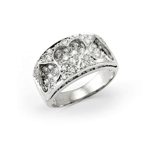 sterling silver cubic zirconia ring 4 claws