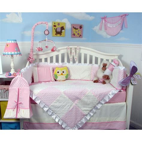 Sears Baby Crib Bedding Sets Soho Designs Pink Minky Dot Chenille Baby Crib Nursery Bedding Set 14 Pcs Included Bag