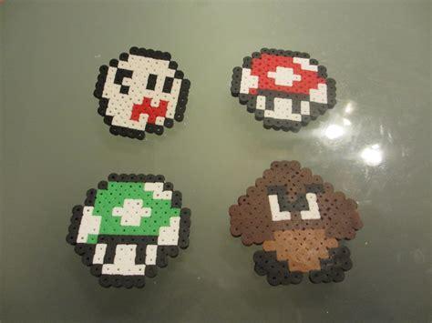 perler nintendo nintendo perler bead pin set 4 pins crafted