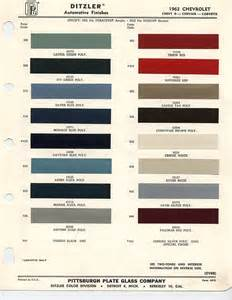 chevy color codes 1963 chevrolet paint chips xframechevy