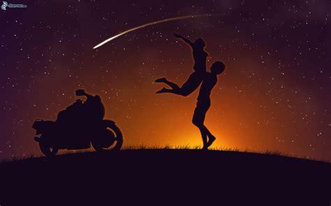 imagenes de parejas romanticas en la noche silhouette du couple