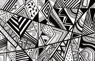 Designs In Black And White Black White Abstract Pattern Vector Line Drawing Graphic