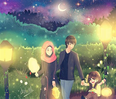 gambar kartun keluarga muslim dan muslimah gambar kartun keluarga muslim dan muslimah kumpulan