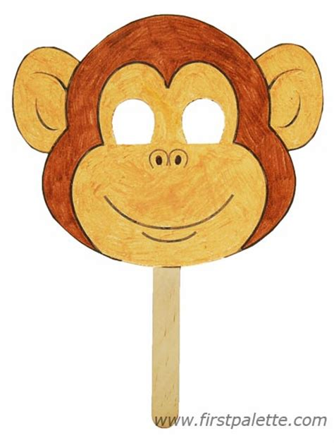 How To Make A Monkey Out Of Paper - preschool animal crafts printable animal masks craft