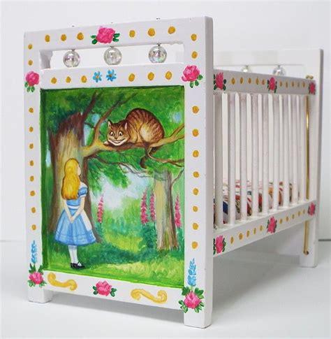 alice in wonderland crib bedding alice in wonderland hand painted dollhouse nursery bed