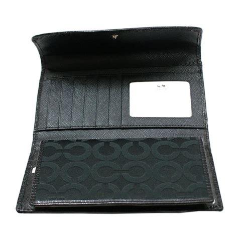 Coach Madison Opt Art Checkbook Wallet Black #46647   Coach 46647