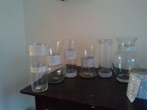 black vases for wedding centerpieces bling centerpieces what do you think honest feedback wedding black bling centerpiece
