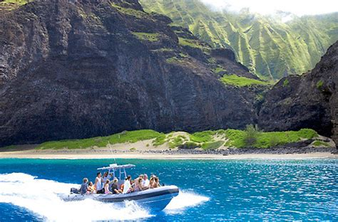 napali coast boat tours october capt andy s na pali rafting adventures kauai kekaha hi