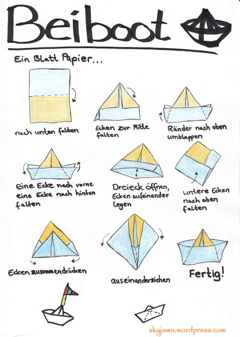 origami boat anleitung papierboot falten papier boot falten origami