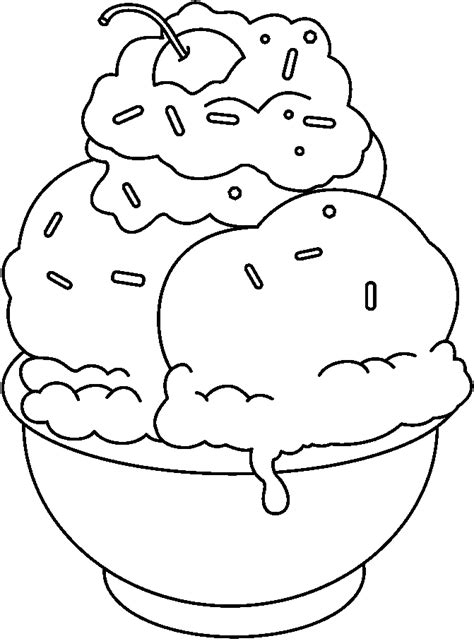 ice cream sundae coloring pages coloring home