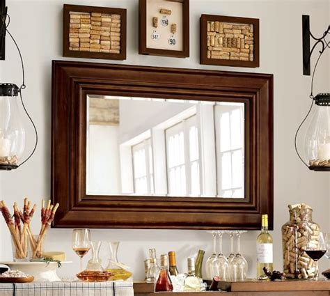 mirror decoration at home solano mirror pottery barn dining room pinterest